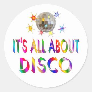 About Disco Classic Round Sticker