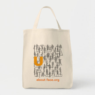 """About-Face """"Beautiful"""" Tote bag"""