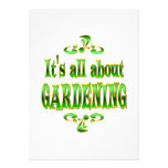 ABOUT GARDENING PERSONALIZED INVITATION