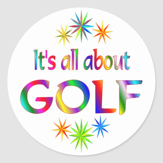 About Golf Classic Round Sticker