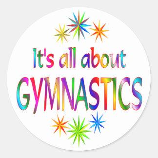About Gymnastics Classic Round Sticker