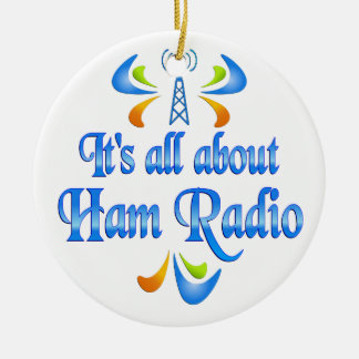 About Ham Radio Christmas Ornament