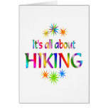 About Hiking Greeting Card