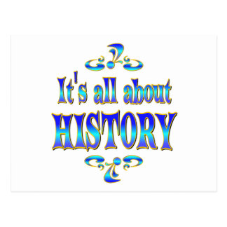 ABOUT HISTORY POSTCARD