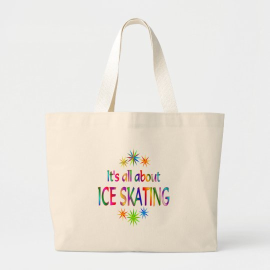 About Ice Skating Large Tote Bag