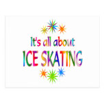 About Ice Skating Postcard