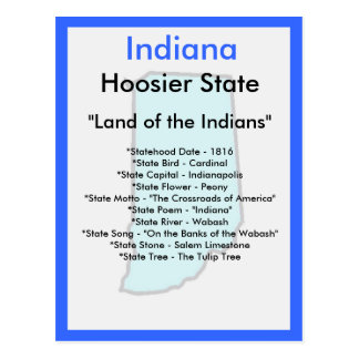 About Indiana Postcard