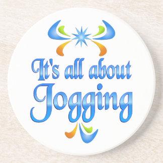 About Jogging Beverage Coaster