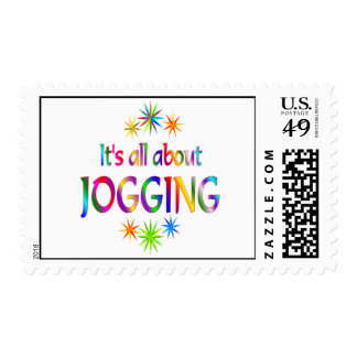 About Jogging Postage Stamp