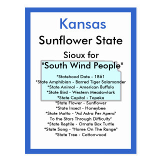 About Kansas Postcard