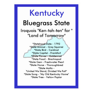 About Kentucky Postcard