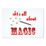 "About Magic 5"" X 7"" Invitation Card"