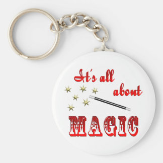 About Magic Basic Round Button Keychain