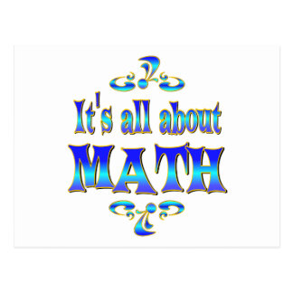 ABOUT MATH POSTCARD