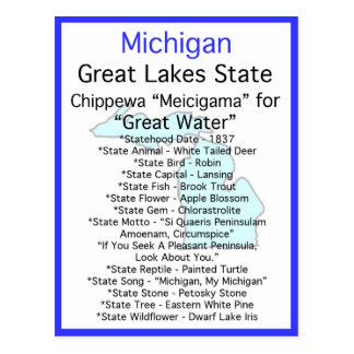 About Michigan Postcard