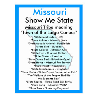 About Missouri Postcard