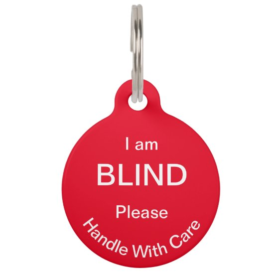 [About My Dog] Blind Deaf Alert Cat Dog Pet ID Tag