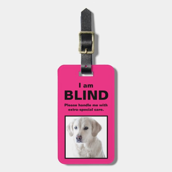 [About My Dog] Blind Deaf Cat Dog Luggage Luggage Tag