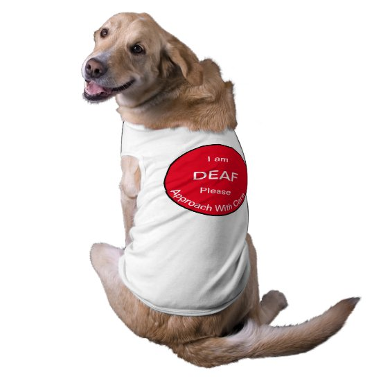 [About My Dog] Blind Deaf Medical Alert Dog Shirt