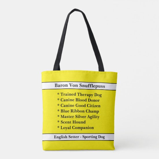[About My Dog] Dog Brag Bag - Solid Color Tote Bag