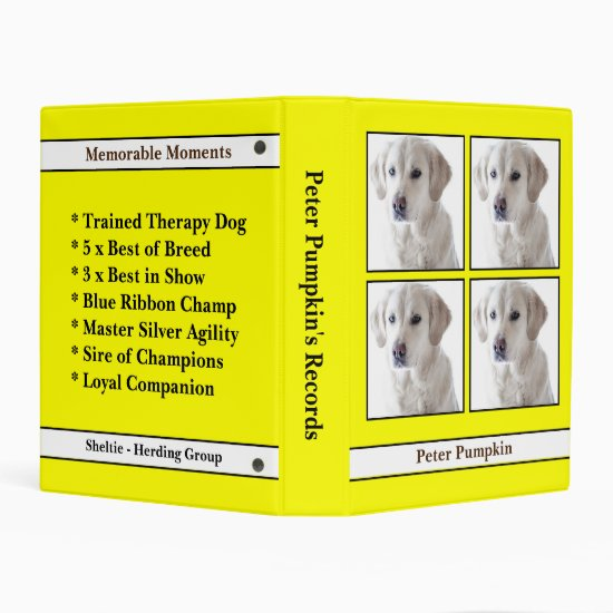 [About My Dog] Records, Papers, Info & Brag Book Mini Binder