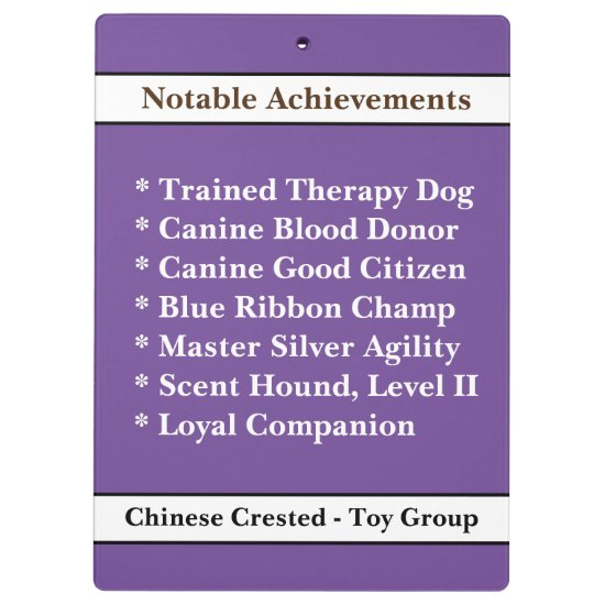 [About My Dog] Show Trials Dog Brag Clipboard