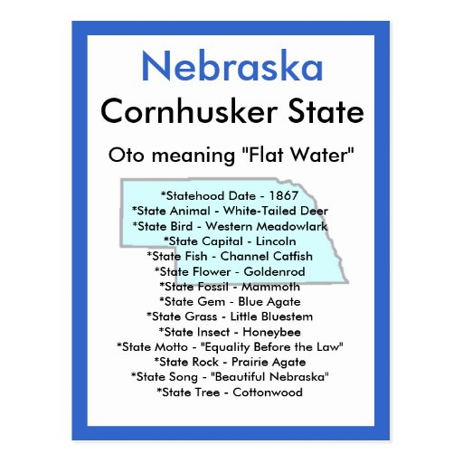 About Nebraska Post Cards