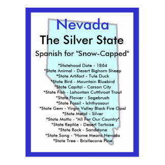 About Nevada Post Card