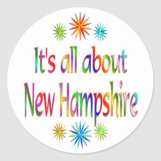 About New Hampshire Round Stickers