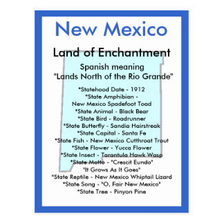 About New Mexico Postcard