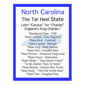 About North Carolina Postcard