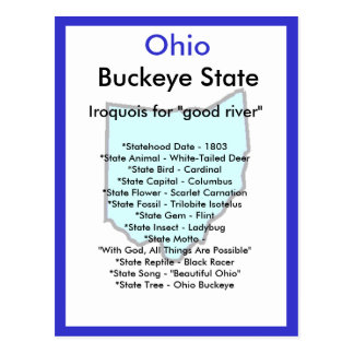 About Ohio Postcard