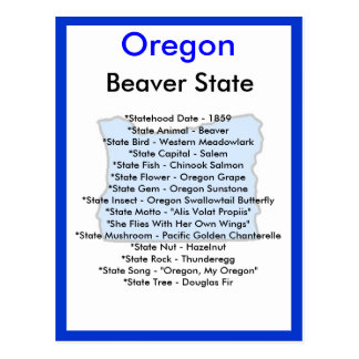 About Oregon Postcard