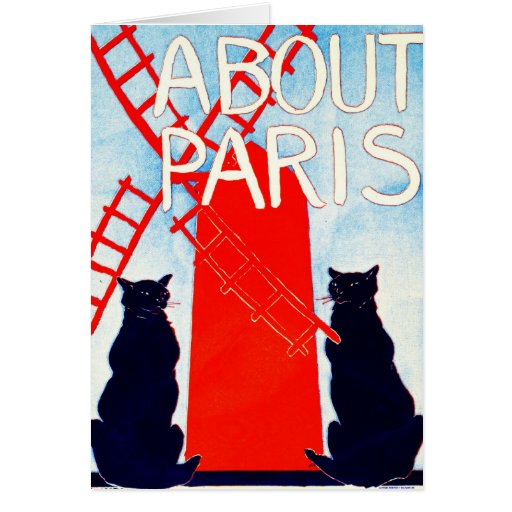 About Paris Advertisement 1895 Greeting Card