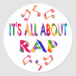 About Rap Round Stickers