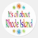 About Rhode Island Round Stickers