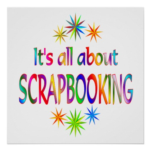 About Scrapbooking Poster