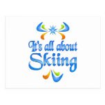About Skiing Postcard