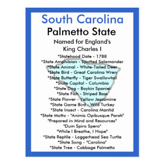 About South Carolina Postcard