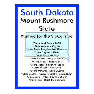 About South Dakota Postcard
