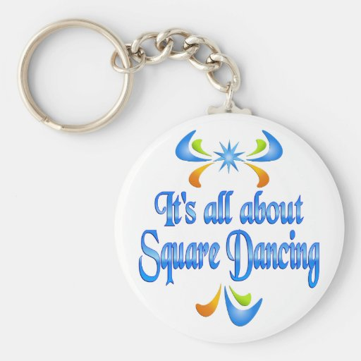 About Square Dancing Key Chain