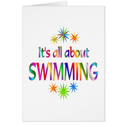 About Swimming Card