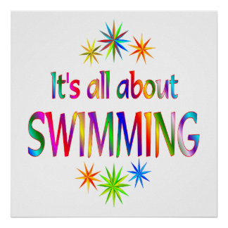 About Swimming Poster