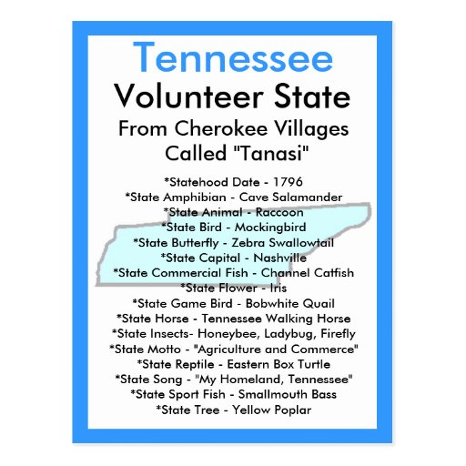 About Tennessee Post Card