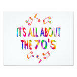 """About the 70s 4.25"""" x 5.5"""" invitation card"""