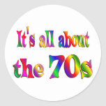 About the 70s classic round sticker