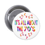 About the 70s pinback button