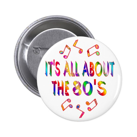 About the 80s pinback button