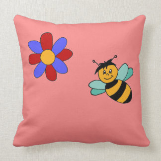 About the flowers and the bees Colourful, true, a Pillow