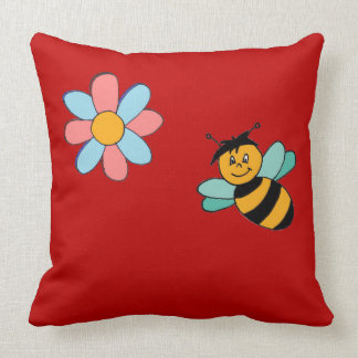 About the flowers and the bees Colourful, true, a Throw Pillow